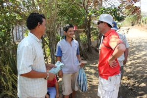 Visita a los familiares de Abel Quesada Bravo